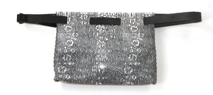 lapa bag | off-white and gray iguana-printed leather