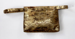 lapa bag | golden tones snake-printed leather