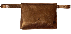 lapa bag | copper glitter leather - Volta Atelier