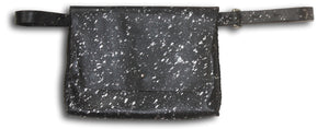 lapa bag | black with silver drips leather - Volta Atelier