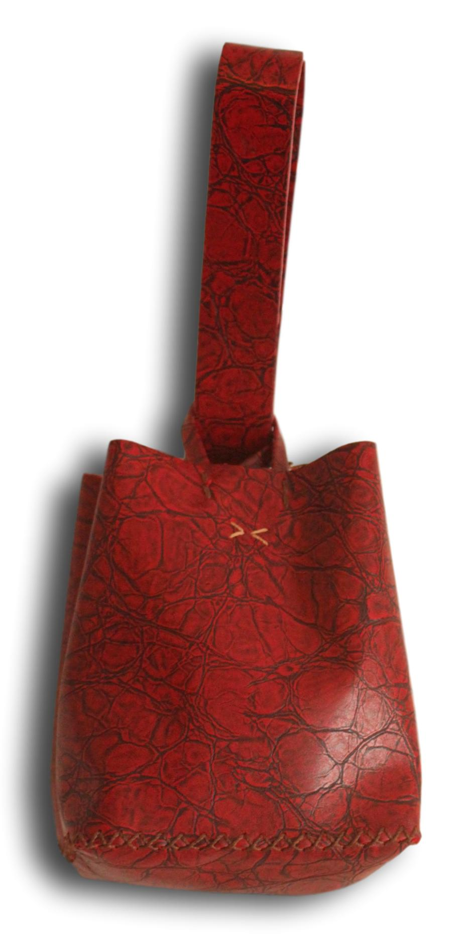 soho small bag | red distressed leather - Volta Atelier