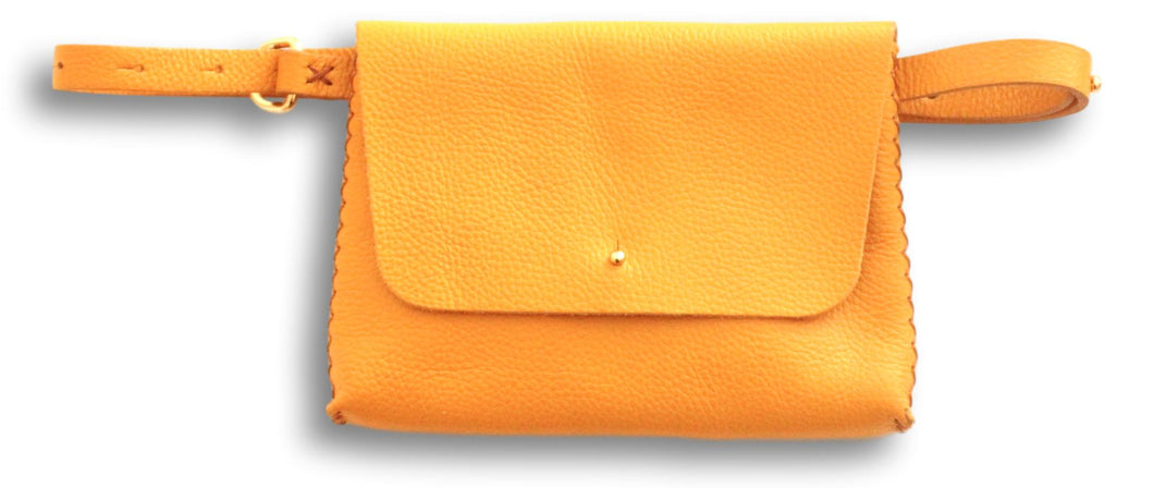 lapa bag | yellow floater leather - Volta Atelier