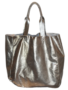 ipanema bag | pewter leather - Volta Atelier