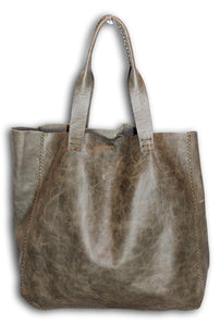 ipanema bag | distressed grey leather - Volta Atelier