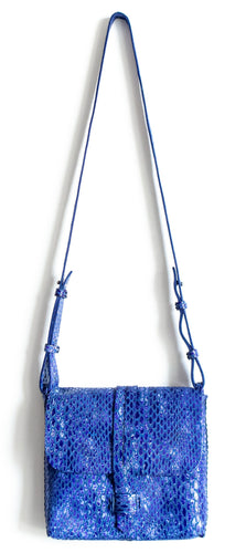 san telmo | blue snake-embossed leather - Volta Atelier
