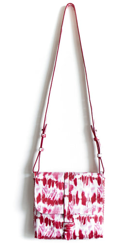 san telmo | red and pink tie-dye effect leather - Volta Atelier