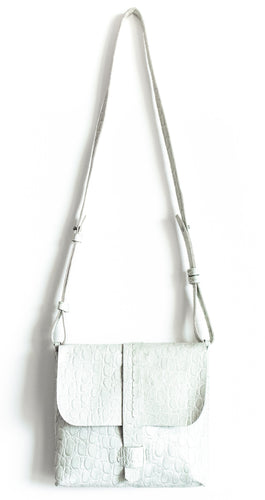 san telmo | off-white croc-embossed leather - Volta Atelier