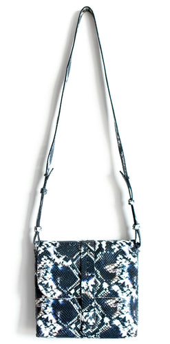 san telmo | black and white snake-embossed leather - Volta Atelier