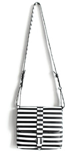 san telmo | black and white stipes leather - Volta Atelier
