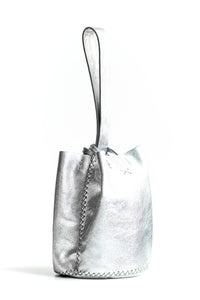 navigli bag | silver leather - Volta Atelier