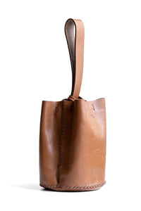 navigli bag | brown wavy embossed leather - Volta Atelier