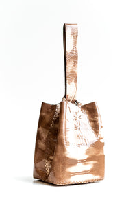 soho bag | brown and beige patent leather - Volta Atelier