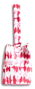 soho bag | red tie-dye effect leather - Volta Atelier