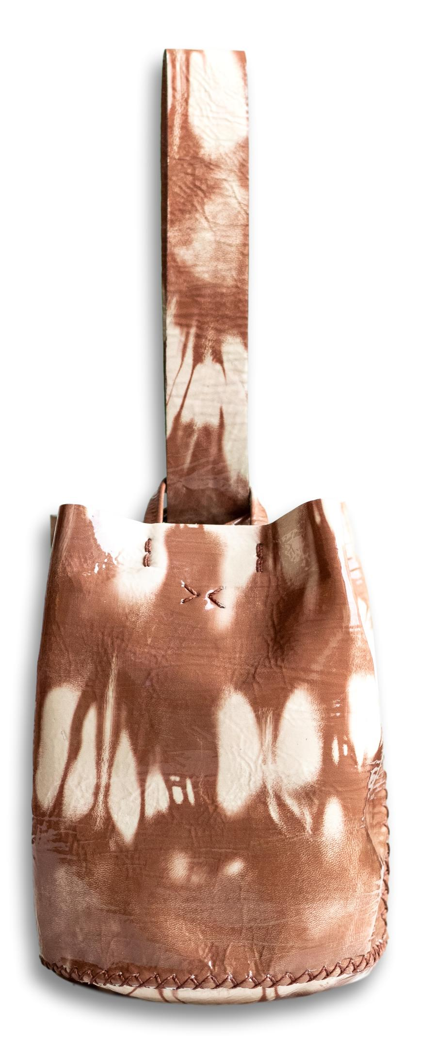 navigli bag | brown and nude tie-dye effect leather
