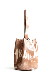 navigli bag | brown and nude tie-dye effect leather - Volta Atelier