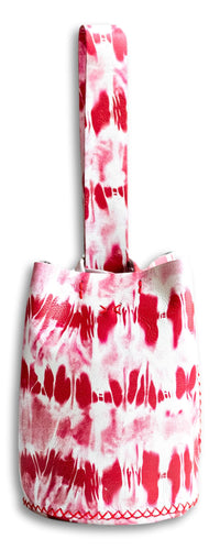 navigli bag | red tie-dye effect leather
