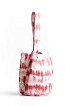 navigli bag | red tie-dye effect leather - Volta Atelier