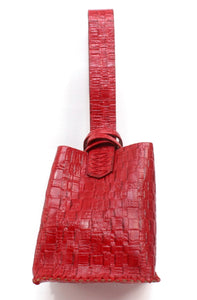 soho bag | red embossed leather