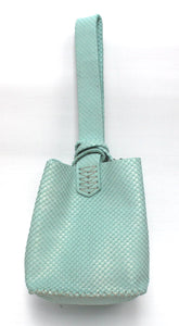 soho bag | green snake-embossed leather - Volta Atelier