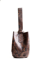 navigli bag | brown snake-embossed leather - Volta Atelier