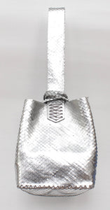 soho bag | silver embossed leather