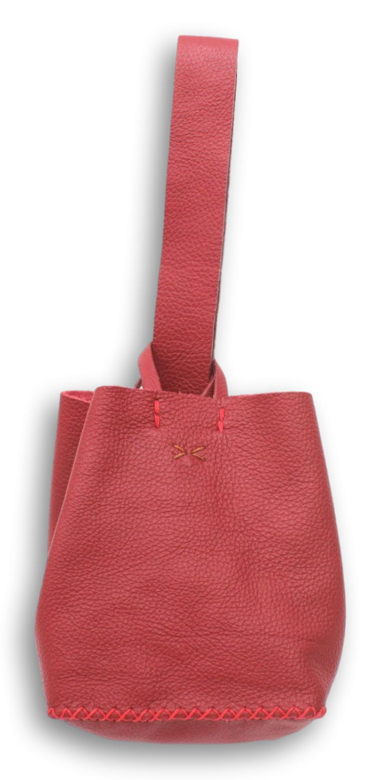 soho bag | red floater leather