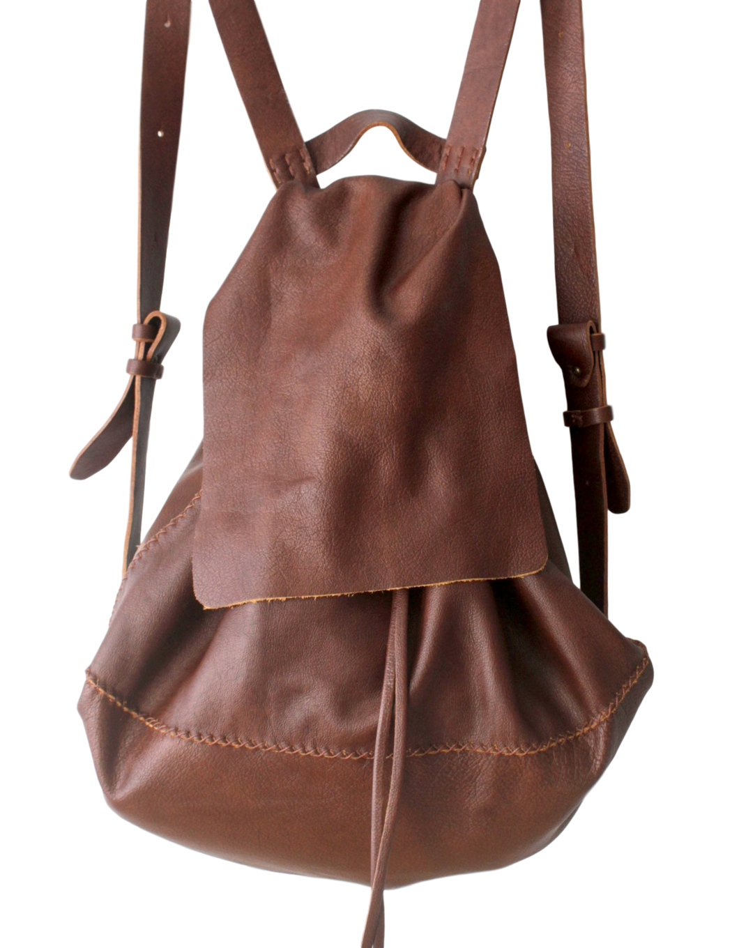 bay ridge large backpack | brown leather