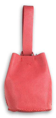 navigli bag | salmon lezard-embossed leather