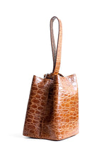 soho bag | brown crocco-embossed leather - Volta Atelier