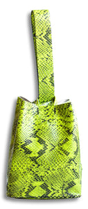 soho bag | neon snake-embossed leather - Volta Atelier