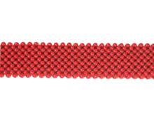 red hand-beaded strap - Volta Atelier