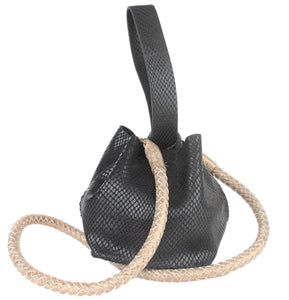 hand-braided leather strap