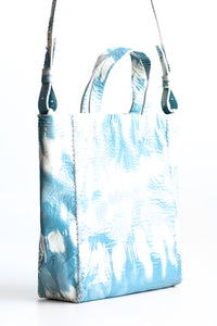 copacabana bag | blue tie-dye effect leather - Volta Atelier