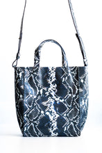 copacabana bag | black and white snake-embossed leather - Volta Atelier