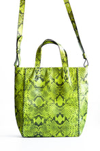 copacabana bag | green and black snake-embossed leather - Volta Atelier
