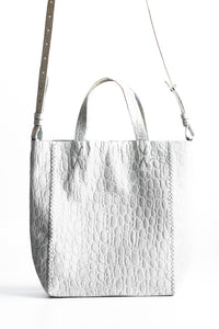 copacabana bag | off-white crocco-embossed leather - Volta Atelier