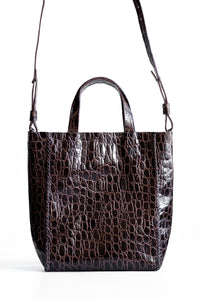 copacabana bag | black crocco-embossed leather - Volta Atelier