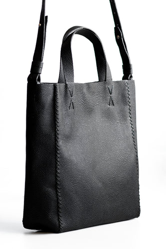 copacabana bag | black floater leather - Volta Atelier