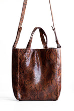 copacabana bag | brown snake-embossed leather - Volta Atelier