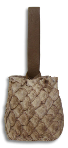 soho small bag | beige pirarucu skin - Volta Atelier
