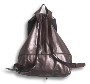 bay ridge large backpack | pewter leather - Volta Atelier