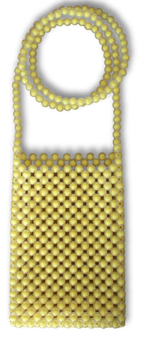 crossbody bag | yellow beaded - Volta Atelier