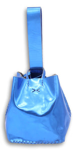 soho small  bag | blue patent leather