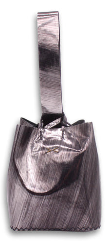 soho small bag | pewter specchio hand-painted leather