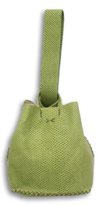 soho small bag | green snake-embossed leather