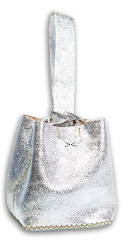 soho bag | sparkling silver leather