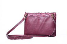 marais small bag | wine pirarucu leather