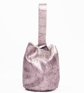 navigli bag | razor-cut silver leather