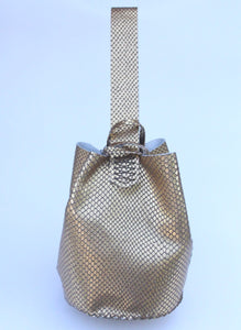 navigli bag | light copper snake-printed leather - Volta Atelier