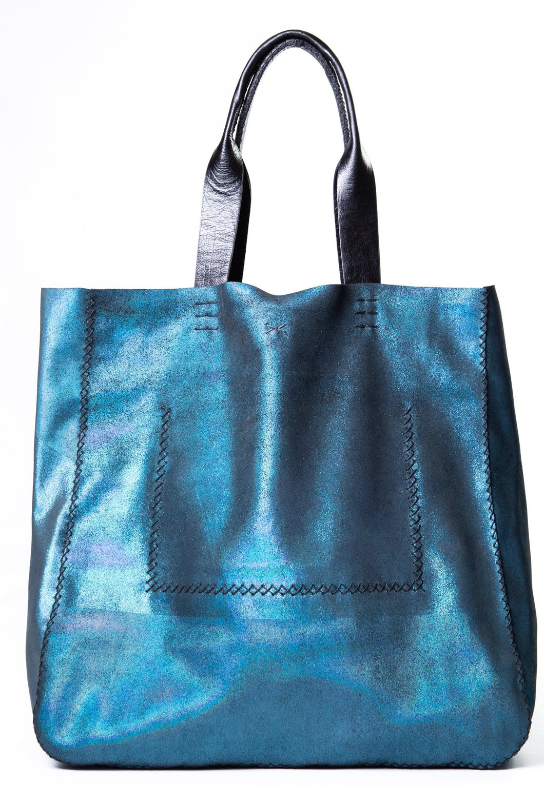 ipanema bag | green glitter leather